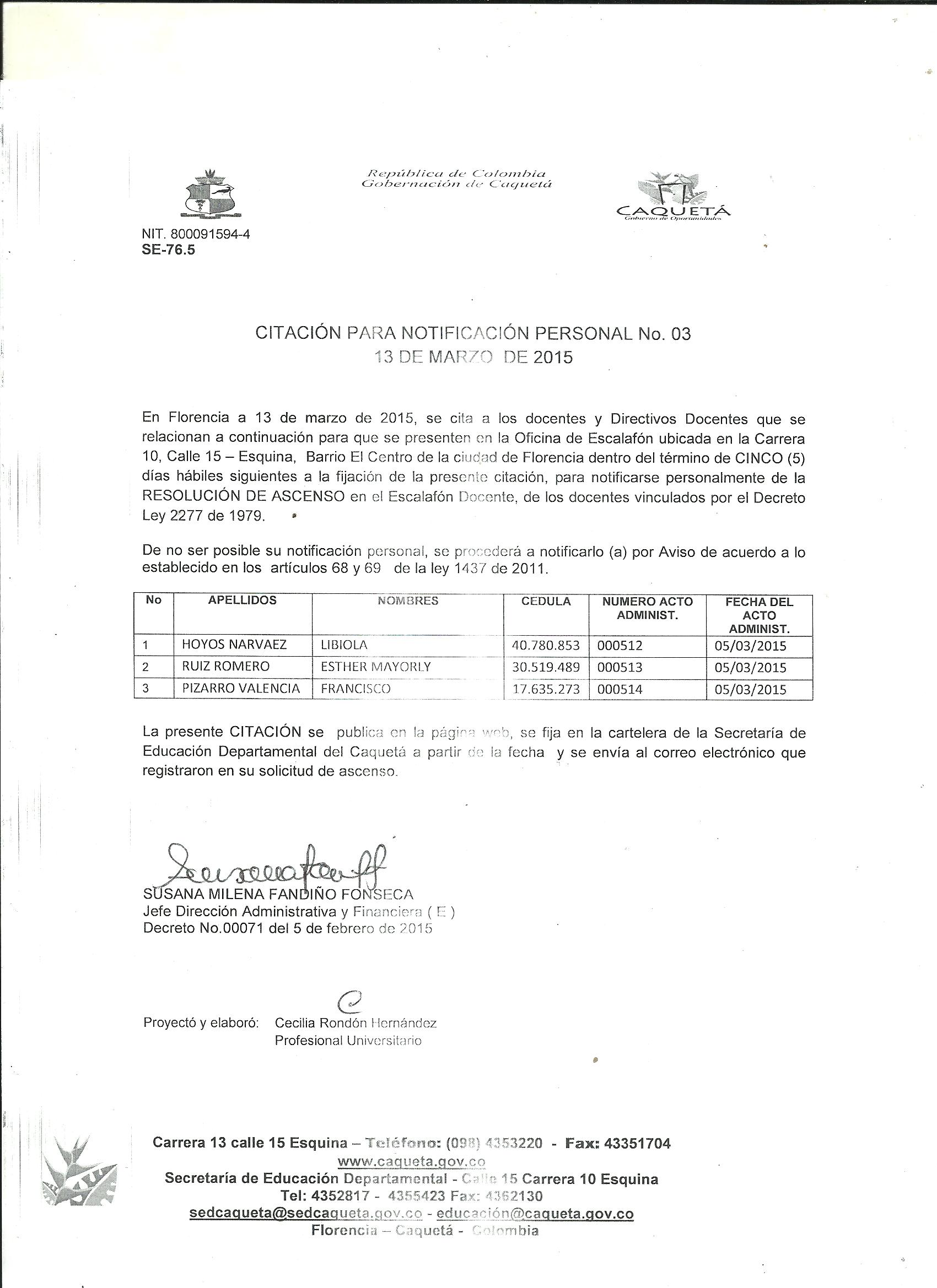 Resolucion escalafon docente 2015 for Resolucion docentes 2016